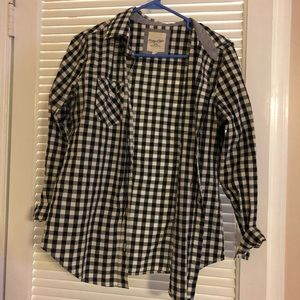 Forever 21 Black & white checkered shirt, size m